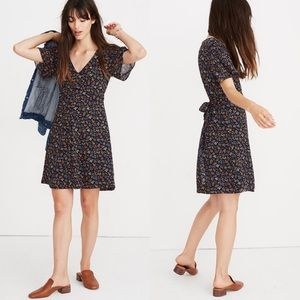 NWT Madewell Cross Front Garden Party Mini Dress